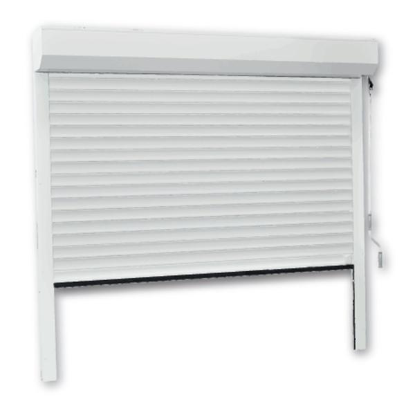 porte de garage enroulable aluminium 240 x 200 blanche porte enroulable standard. Black Bedroom Furniture Sets. Home Design Ideas