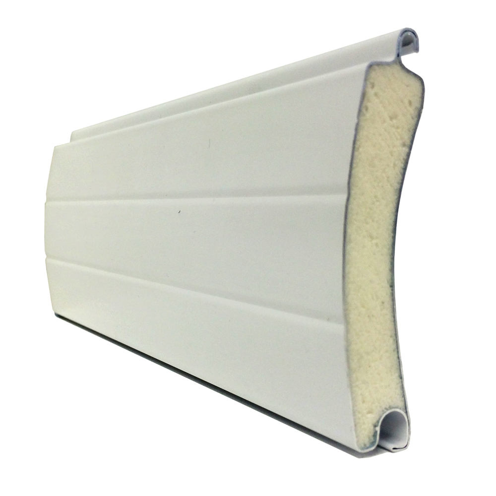 Porte de garage enroulable aluminium 240 x 200 blanche for Porte garage enroulable aluminium