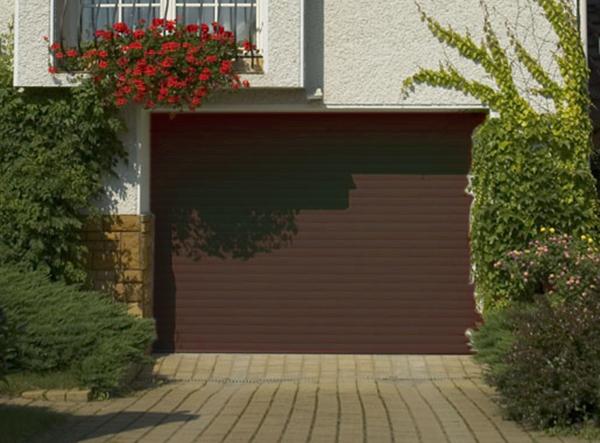 Porte De Garage Enroulable 240 X 200 Ral 8014 Porte Enroulable Standard