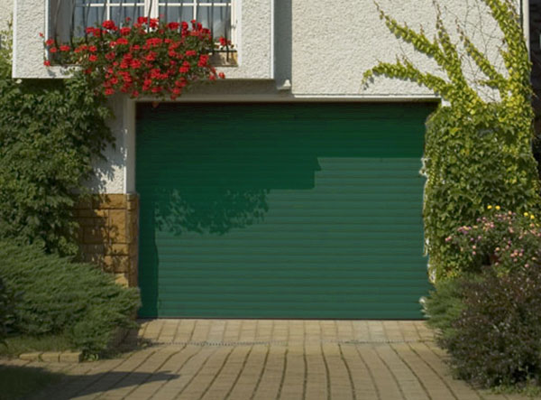 Porte de garage enroulable aluminium 240 x 200 verte for Porte garage enroulable aluminium