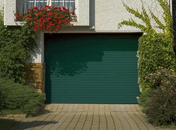 Porte de garage enroulable aluminium 240 x 200 vert 6009 porte enroulable - Porte de garage hauteur 220 ...