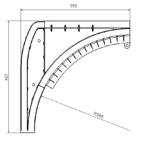 Sabot D Angle Pour Porte De Garage Latérale Porte Latérale
