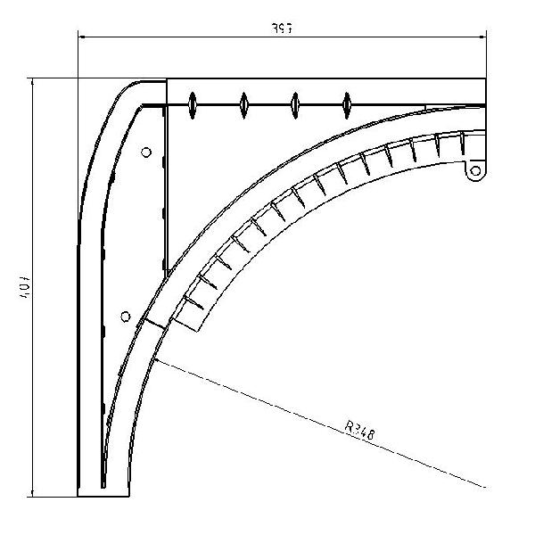 Sabot dangle pour porte de garage latérale  Porte Latérale