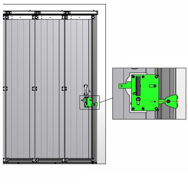 Serrure cl pour porte de garage lat rale porte - Plan de serrure de porte ...