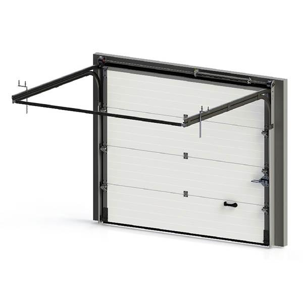 Porte De Garage Sectionnelle à Rainures Porte Sectionnelle Standard - Porte de garage sectionnelle avec poignée de porte pvc a clé