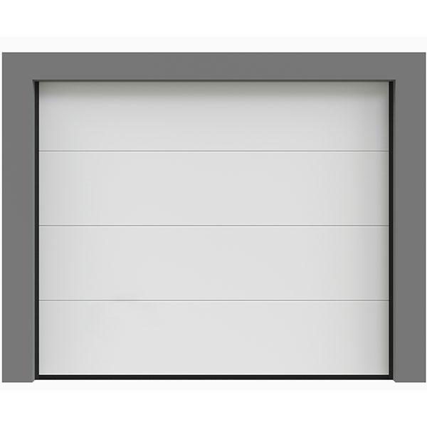 porte de garage sectionnelle lisse isol e porte sectionnelle standard. Black Bedroom Furniture Sets. Home Design Ideas