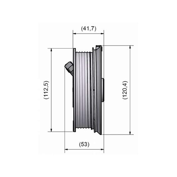 poulie de c ble 120 mm pour porte de garage sectionnelle porte sectionnelle. Black Bedroom Furniture Sets. Home Design Ideas