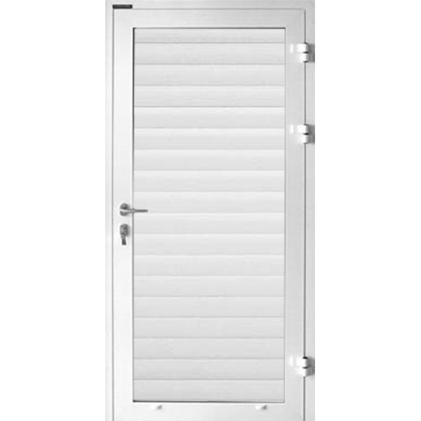 Porte de service pour porte de garage enroulable aluminium for Porte de garage 60 mm