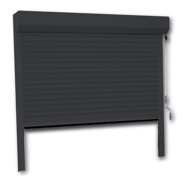 Porte de garage enroulable 240 x 200 couleur ral 7016 for Porte de garage enroulable isolante