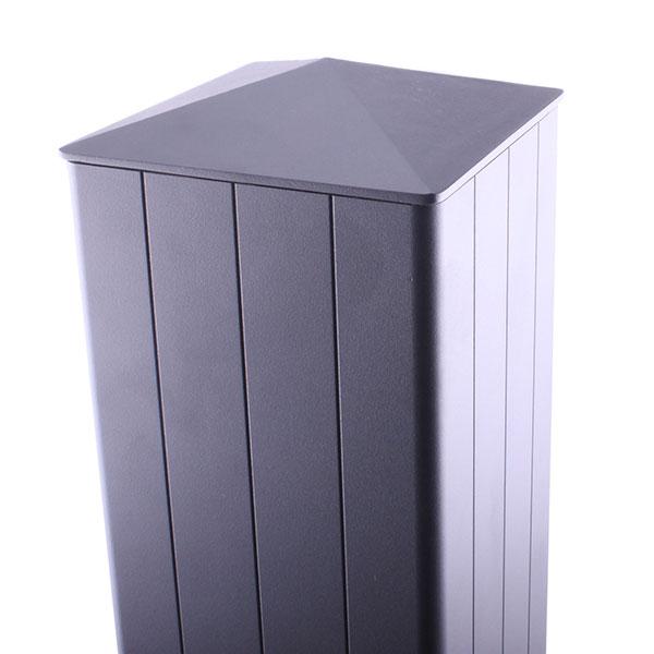 Poteau aluminium pour portail aluminium sur mesure - Pilier aluminium pour portail ...