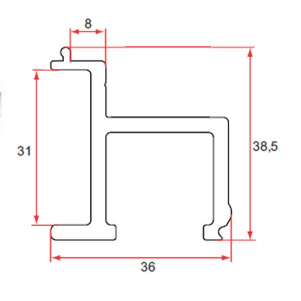 rail de guidage portail aluminium coulissant portail coulissant. Black Bedroom Furniture Sets. Home Design Ideas