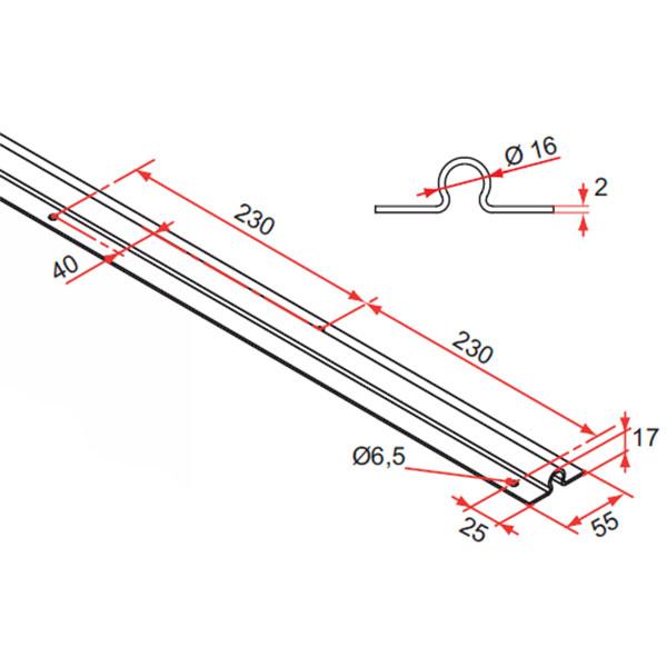 rail de sol pour portail aluminium coulissant accessoires de portail aluminium. Black Bedroom Furniture Sets. Home Design Ideas