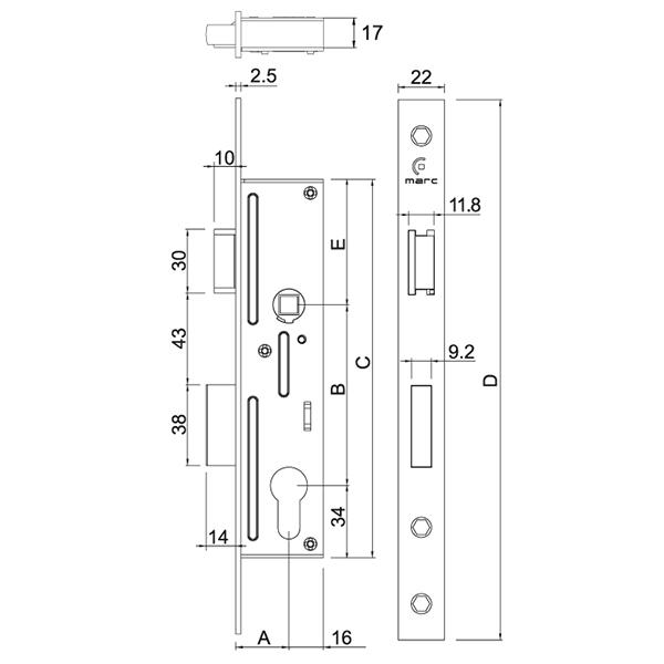 serrure cl pour portail aluminium battant et portillon portail battant. Black Bedroom Furniture Sets. Home Design Ideas