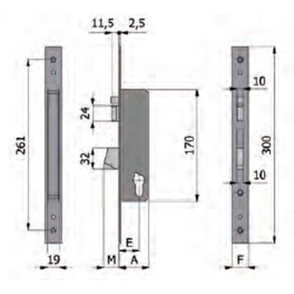 Serrure lectrique pour portail aluminium battant et for Dimension portillon