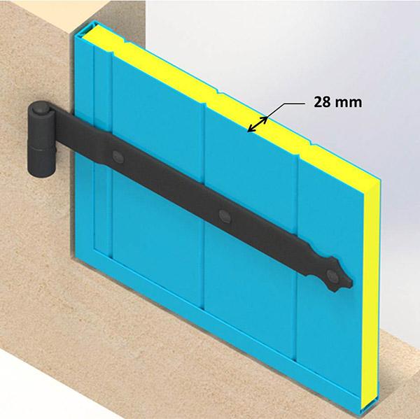 volet aluminium battant blanc simple vantail volet alu isol 28 mm volet battant alu contre. Black Bedroom Furniture Sets. Home Design Ideas